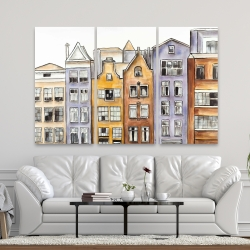 Canvas 40 x 60 - Amsterdam houses hotel
