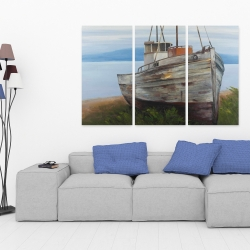Canvas 40 x 60 - Old abandoned boat