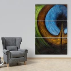 Canvas 40 x 60 - Peacock feather center