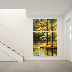 Canvas 40 x 60 - Fall landscape by the water