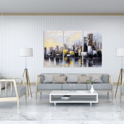 Canvas 40 x 60 - Abstract city in the morning