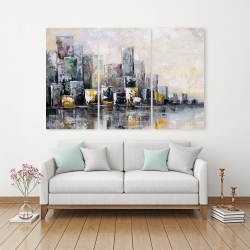Canvas 40 x 60 - Abstract cityscape in the morning
