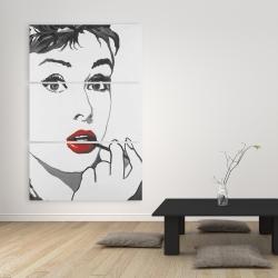 Canvas 40 x 60 - Audrey hepburn outline style