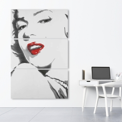Canvas 40 x 60 - Marilyn monroe outline style