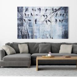Toile 40 x 60 - Oiseaux abstrait sur fil électrique