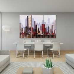 Canvas 40 x 60 - Industrial city style