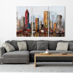 Canvas 40 x 60 - Rust looking city