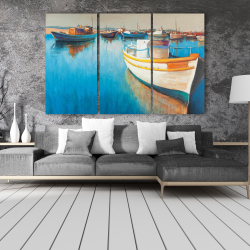 Canvas 40 x 60 - Fishing boats at the marina