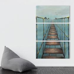 Canvas 40 x 60 - Old and dangerous bridge