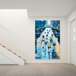Canvas 40 x 60 - Rainy streets of new york