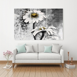 Canvas 40 x 60 - Abstract daisies flowers