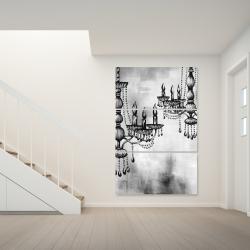 Toile 40 x 60 - Deux lustres en crystal