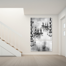 Canvas 40 x 60 - Two crystal chandeliers 1