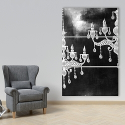 Canvas 40 x 60 - White chandeliers