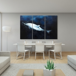 Canvas 40 x 60 - Swimming dolphin