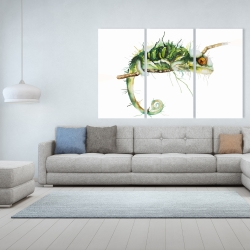 Canvas 40 x 60 - Chameleon on the lookout