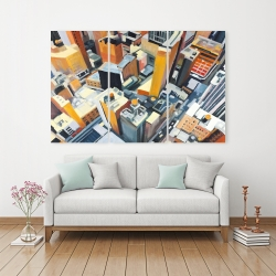 Canvas 40 x 60 - High top view of buildings in new york