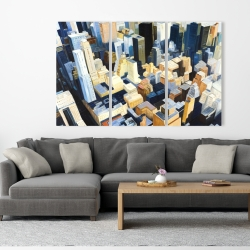Canvas 40 x 60 - Manhattan view of the empire state building
