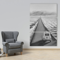Canvas 40 x 60 - Car on the road