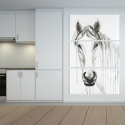 Canvas 40 x 60 - Solitary white horse