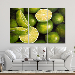 Canvas 40 x 60 - Basket of limes