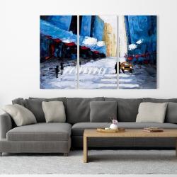 Canvas 40 x 60 - Blue buildings