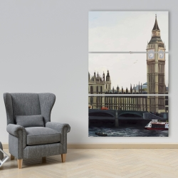 Canvas 40 x 60 - Big ben clock elizabeth tower in london
