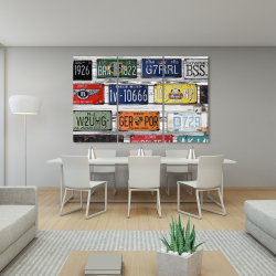 Toile 40 x 60 - Plaques d'immatriculations