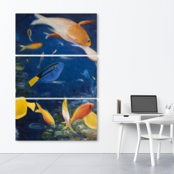 Canvas 40 x 60 - Colorful fish under the sea