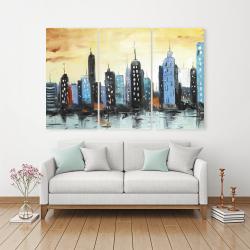 Canvas 40 x 60 - Skyline on cityscape