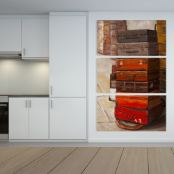 Canvas 40 x 60 - Old traveling suitcases