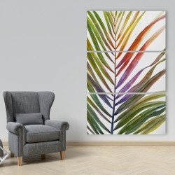 Canvas 40 x 60 - Watercolor tropical palm leave