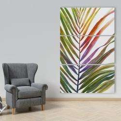 Canvas 40 x 60 - Watercolor tropical palm leave