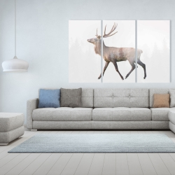Canvas 40 x 60 - Deer and forest