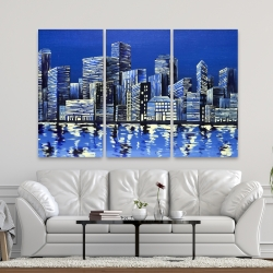 Canvas 40 x 60 - City in blue