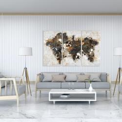 Toile 40 x 60 - Carte du monde abstraite et typographie