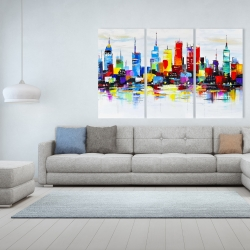 Canvas 40 x 60 - Abstract and colorful city