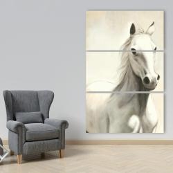 Canvas 40 x 60 - Gallant white horse