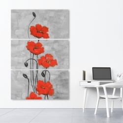 Canvas 40 x 60 - Big red flowers