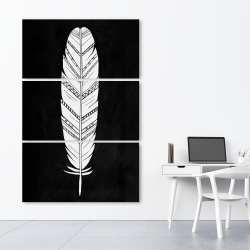 Canvas 40 x 60 - Feather with patterns