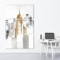 Canvas 40 x 60 - Blurry sketch style cityscape
