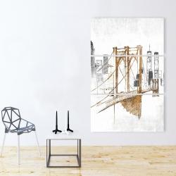 Canvas 40 x 60 - Brooklyn bridge blurry sketch