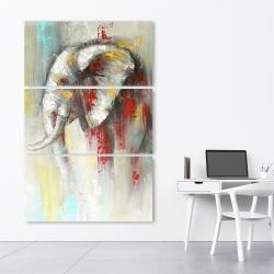 Toile 40 x 60 - éléphant abstrait avec éclats de peinture