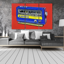Canvas 40 x 60 - Retro radio alarm