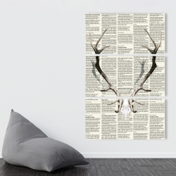 Canvas 40 x 60 - Deer horns on newspaper