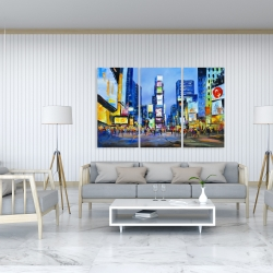 Canvas 40 x 60 - Cityscape with colorful ads
