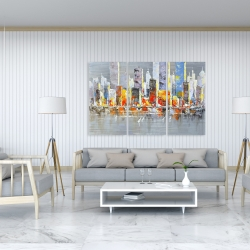 Canvas 40 x 60 - Color splash cityscape