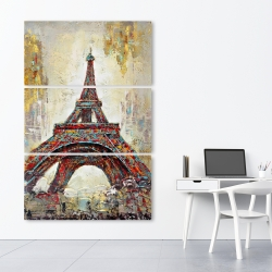 Canvas 40 x 60 - Abstract eiffel tower