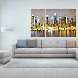 Toile 40 x 60 - Gratte-ciel texturés de nuit