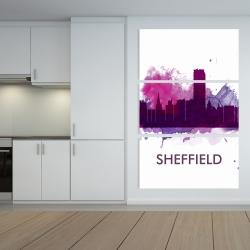 Canvas 40 x 60 - Sheffield city color splash silhouette